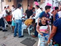 Borracho atropella a invitados en un baby shower, en Coatzacoalcos
